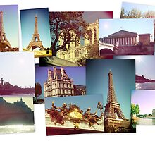 Vintage Paris Collage by Claire Elford