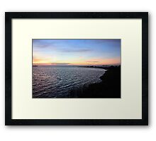 Sunset on the Gulf of Mexico, Shore View Framed Print