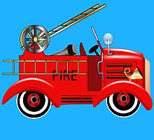 Freddie the Fire Truck by magicalview
