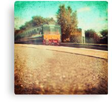 Vintage Diesel Train Canvas Print