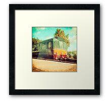 Vintage Diesel Train Framed Print
