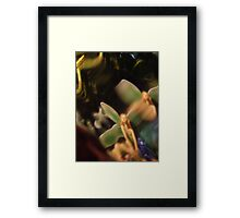 Fairy Lily Pad, Abstract Photography, Raw Image, Refraction through Glass Framed Print