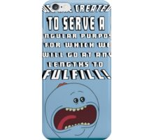 mr meeseek frase iPhone Case/Skin