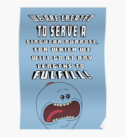 mr meeseek frase Poster