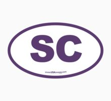 South Carolina SC Euro Oval PURPLE by USAswagg2
