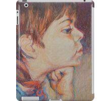 Double Pensive - Portrait Of A Boy iPad Case/Skin