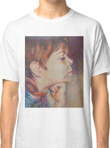 Double Pensive - Portrait Of A Boy Classic T-Shirt