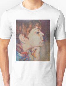 Double Pensive - Portrait Of A Boy T-Shirt