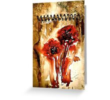 The Poppy Journals.. Greeting Card