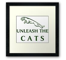 Unleash The Cats (Large Logo - Green) Framed Print