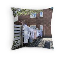 Another Boring Washday Throw Pillow