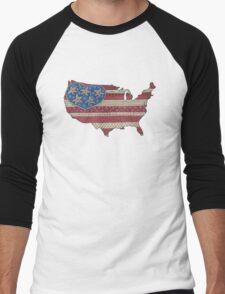 Americana Flag Map  T-Shirt