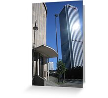 """""""Intraco II"""" building in Warsaw city center Greeting Card"""