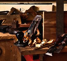 Old Woodworking Tools in HDR by Anthony Vella