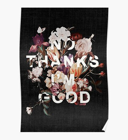 No Thanks I'm Good Poster