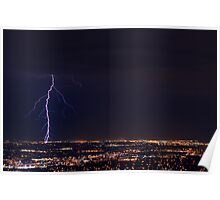 Lightning in West Jordan Poster