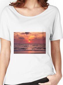 Tropical Sunset Beach Women's Relaxed Fit T-Shirt