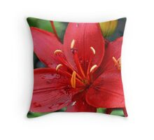 Posterized Flower Throw Pillow