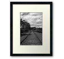 Rail to Nowhere Framed Print