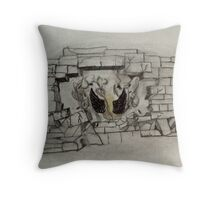 Breaking the Walls into Darkness  Throw Pillow