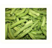 snapped green beans Art Print