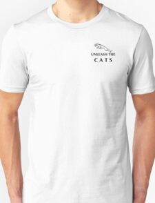 Unleash The Cats (Small Logo - Black) T-Shirt
