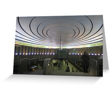 "Metro station ""Plac Wilsona"" - Warsaw, Poland Greeting Card"