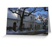 Winter in Zoliborz district, Warsaw, Poland Greeting Card