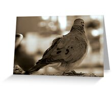 """""""... Oh that I had wings like a dove! for then would I fly away, and be at rest."""" PSalm 55: 6 Greeting Card"""