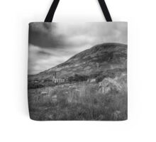 Mount Errigal and the Derelict Church Tote Bag