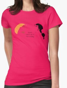 Stars, can't do it, not today. Womens Fitted T-Shirt