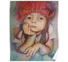 Red Hat - Portrait Of A Girl Poster