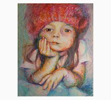 Red Hat - Portrait Of A Girl Unisex T-Shirt