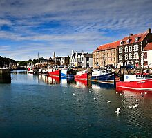 Eyemouth Harbour, Scottish Borders, Scotland by David Lewins