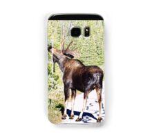 Bull Moose Munching in The Road Samsung Galaxy Case/Skin