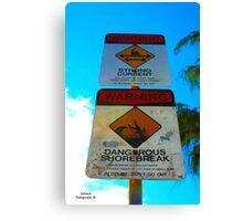 Dangerous Shorebreak Canvas Print