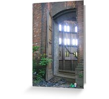 Entry to old gas reservoir, Warsaw, Poland Greeting Card