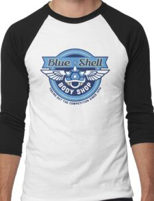 Blue Shell Auto Body Men's Baseball ¾ T-Shirt