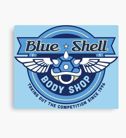 Blue Shell Auto Body Canvas Print