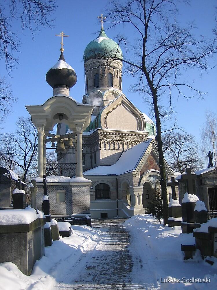 Orthodox church and cemetery in Warsaw, Poland by Lukasz Godlewski