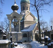 Orthodox church and cemetery in Warsaw, Poland by Lukasz Godlewski
