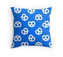 Pretzels - Blue Throw Pillow