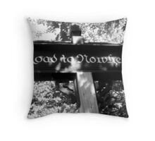 REDREAMING ROAD TO NOWHERE Throw Pillow