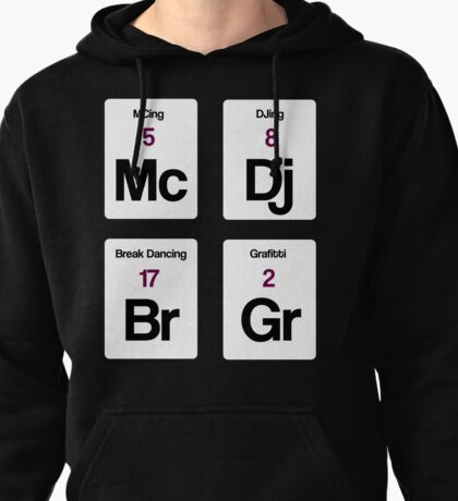 The Four Elements of Hip Hop Pullover Hoodie