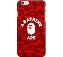 BATHING APE RED CAMO iPhone Case/Skin