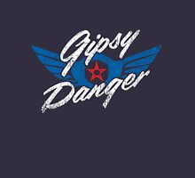 Gipsy Danger Distressed Logo in White T-Shirt