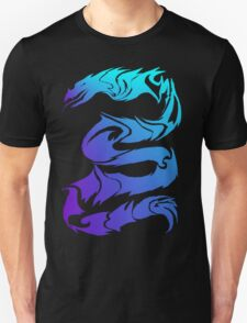 Sharp Blue Dragon  T-Shirt