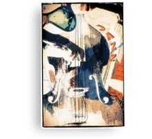 Double bass Jazz Poster Canvas Print