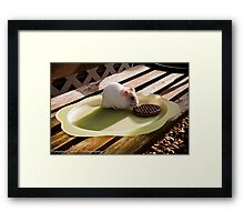 hamster tea break Framed Print