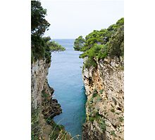 Cliffs by the Sea Photographic Print